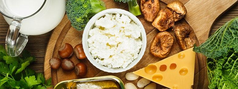 Kalcium i livsmedel och mat